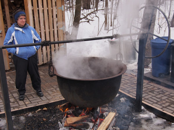 Steaming cauldron, Eastman Nature Center