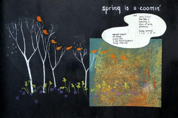 Swarthmore Spring Walk Poster