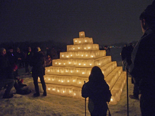 Luminary Loppet ice pyramid