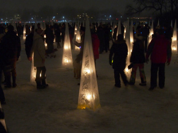 Luminary Loppet ice forest
