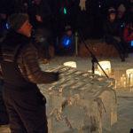 Luminary Loppet ice xylophone